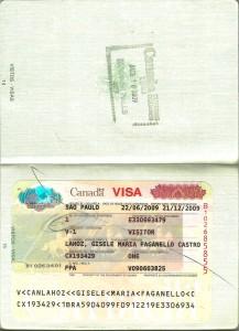 Visto para o Canadá.