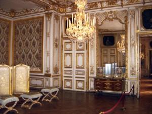 O deslumbrante interior do palácio de Versailles.